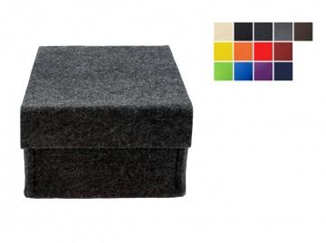 Kleiner Filzkorb mit Deckel -  in verschiedenen Farben lieferbar
