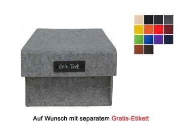 Großer Filzkorb mit Deckel / Schuhbox aus Filz - in verschiedenen Farben lieferbar