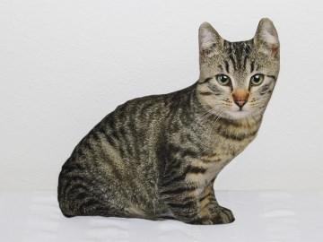 Kissen in Form einer Katze mit Fotodruck Katze