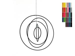 Modernes Mobile aus fünf ineinanderhängenden Ringen für Erwachsene und Jugendliche - in zahlreichen Farben
