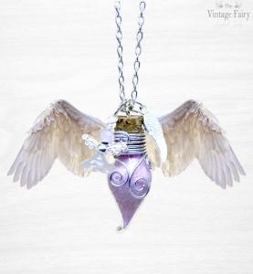 ♡ Schutzengelkette ♡ My Guardian Angel ♡ Phiolenkette gefüllt mit rosa Engelsstaub ♡