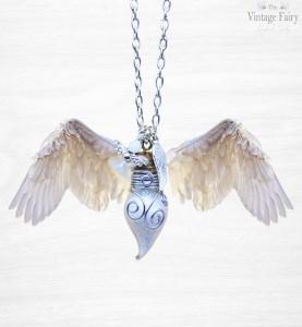♡ Schutzengelkette ♡ My Guardian Angel ♡ Phiolenkette gefüllt mit Engelsstaub ♡