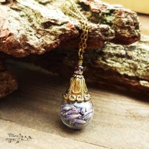 ✿  Glaskugel Schmuck ✿ Lavendel ✿ Glaskugel gefüllt mit echtem Lavendel ✿