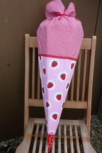 Schultüte  ☆ Erdbeere ink. Kissen ☆Zuckertüte