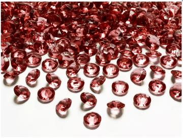 ♡♡ 100 Acryl Diamanten ♡♡ blutrot ° 12 mm