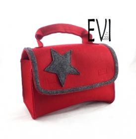 Koffer aus Filz, für die Aufbewahrung und den Transport von Hörspielbox und Zubehör