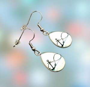 Ohrhängerpaar, erstellt in Edelstahl, Tropfenform, etwas Besonderes für besondere Menschen - Handarbeit kaufen