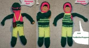 Grüße Puppe GREGOR, 18 cm, gestrickte kleine Puppe, Zum Verschenken, Zum Spielen