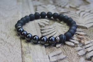 Setze Dich durch - mit einem Onyx-Hämatit-Armband