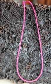 Glücksbote! Funkelnde, fuchsia-pink-farbene Halskette aus Rubellit und Silber