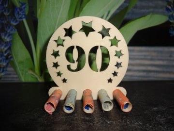 Geldgeschenk / Geldhalter 90. Geburtstag Holz