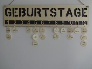 Geburtstagskalender -GEBURTSTAGE- Holz hell
