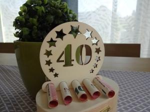 Geldgeschenk / Geldhalter 40. Geburtstag Holz