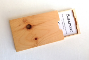 Visitenkartenetui Holz Zirbe Mod. 6