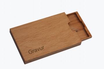 Visitenkartenetui Holz Buche (Mod.6) mit Gravur