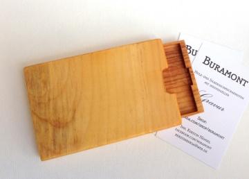 Visitenkartenetui Holz Zirbe Mod. 3 mit Gravur
