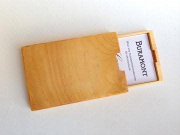 Visitenkartenetui Holz Zirbe Mod. 5 mit Gravur