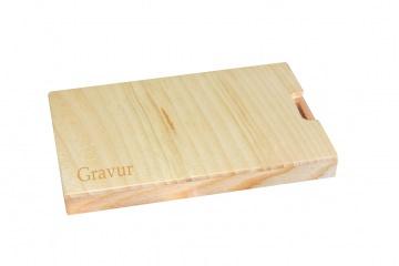 Visitenkartenetui Holz Zirbe - Lärche mit Gravur