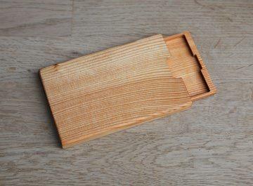 Visitenkartenetui Holz Lärche Mod.2 mit  Gravur