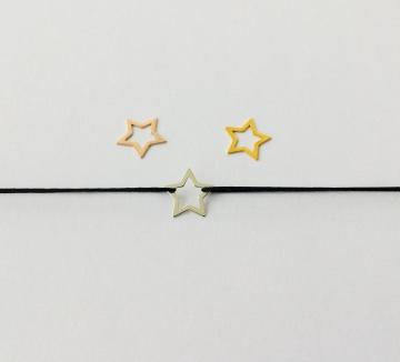 Armband mit Stern 925 Silber und Makrameeverschluss