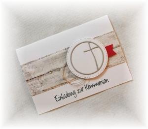 Einladung Einladungskarte zur Kommunion Konfirmation Taufe Firmung