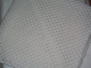 Babydecke ♥ Taufgeschenk NEU Krabbeldecke ca. 88x88 cm ♥ Babywolle weiß ♥