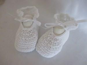 ♥ - ♡ - Taufschuhe extragroß Ballerinas weiß Fuss ca. 13 - 13,5 cm Taufe