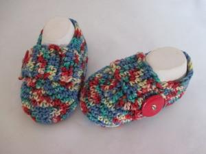 ★ - ☆ Babyschuhe Slipper Loafers Baumwolle ca. 11 cm Fuss ca. Gr. 17/18 ★ - ☆