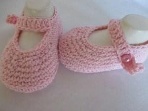 Ballerinas Taufschuhe selfmade rosa mit Lurex - Glitzer Fuss ca. 10,5 cm