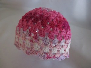 ★ - ☆ Babymütze Baumwolle selfmade für KU von ca.  44 - 46  cm  ★ - ☆