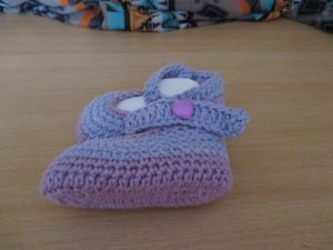 ♥ - ♡ - Babyschuhe Ballerinas flieder-violett Gr. 18/19 ca. 11,5 cm ♥ - ♡ -