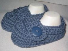 - ♥ - ♡ - Babyschuhe Slipper mit Merino Fuss ca. 9,5 cm