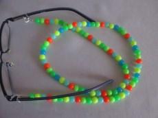 Brillenkette Brillenband 3-in-1 NEON Farbig - handmade Länge ca. 70 cm