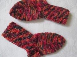 ♥ - ♡ - Babysocken Fuss ca. 11.5 cm Gr. 18/19 aus Sockenwolle ♥ - ♡