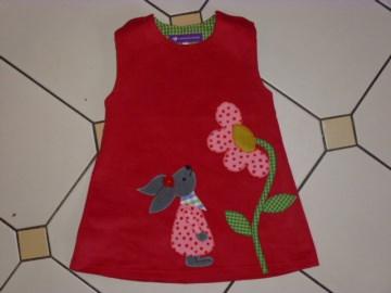 Kinderkleid *Hoppelchen* aus hochwertigem Cordstoff mit Applikation