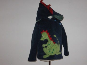 Kinderkapuzenpullover *Drache* aus hochwertigem Fleece