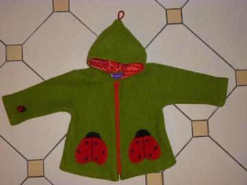 Kinderjacke *Käfer* aus Walkloden (Kopie id: 45497)