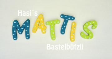 Bunte Holzbuchstaben für´s Kinderzimmer, Buchstaben aus Holz