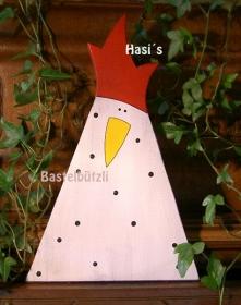 Sofort verfügbar ! ♡ Huhn aus Holz ♡, Holzhuhn ♡, in weiß, Shabby-Chic - Handarbeit kaufen