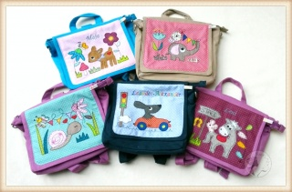 ☆ Bestickte Kindergartentasche mit Name