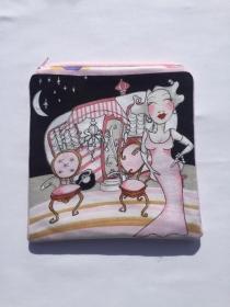 Kramtasche Kosmetiktasche Täschlein Handytasche Vintage Holiday Loralie
