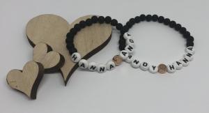 Handgemachte Partnerarmbänder ♥ Freundschaftsarmbänder ♥ Perlenarmbänder ♥ - Handarbeit kaufen