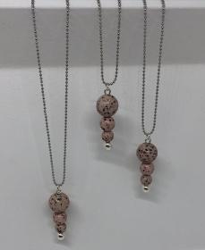 Halskette mit Polaris Perlen im Edelstein Look ♥ - Handarbeit kaufen