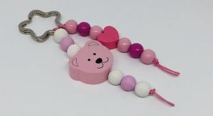 Schlüsselanhänger Taschenanhänger Taschenbaumler mit Motivperle Bärchen Rosa für Mädchen  - Handarbeit kaufen