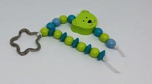 Schlüsselanhänger Taschenanhänger Taschenbaumler Grün Bärchen Jungen  - Handarbeit kaufen