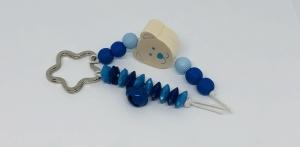 Schlüsselanhänger Taschenanhänger Taschenbaumler für Kinder mit Bärchen, Jungen blau  - Handarbeit kaufen