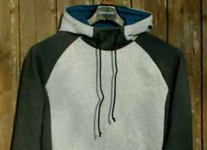 Männer-Hoodie  ERICH  grau Sweatshirt  Gr. M