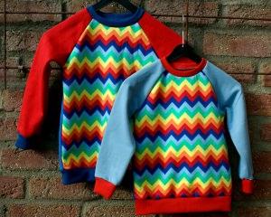 Sweatshirt bunte ZACKEN für Jungen und Mädchen