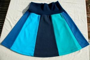 Bahnenrock Blau Baumwolle Gr. M