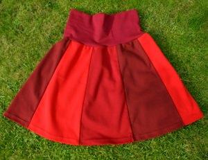 Bahnenrock Rot Baumwolle Gr. M  - Handarbeit kaufen